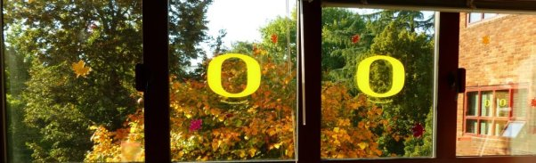 At least I had a pretty view from my dorm room! Eugene, OR in Fall 2011.