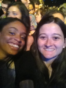 My friend and I at a concert I went to. THAT'S how good I was feeling in May 2013. (My feet weren't good the next day, but other than that I was okay!)