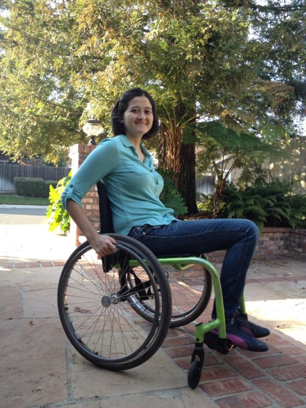 In December 2013, I got a new wheelchair! It was a great upgrade!